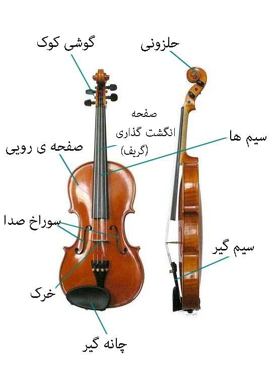 اجزای ساز ویولن