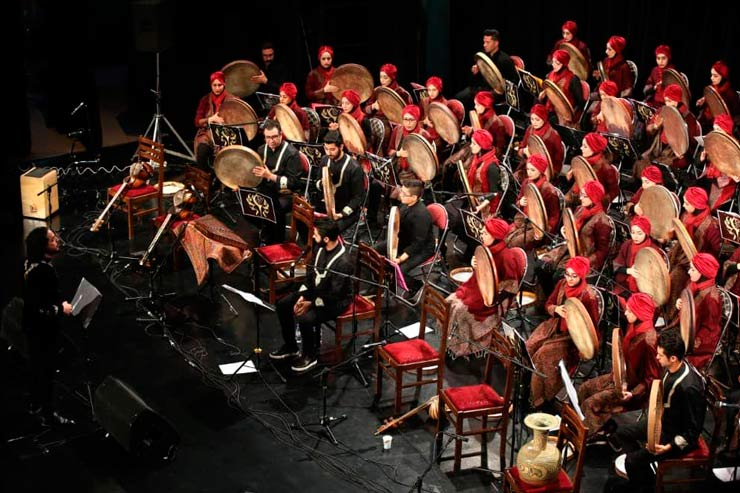 کنسرت دف آموزشگاه موسیقی